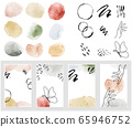 Art set of modern decor prints set abstract - Parts of set watercolor background. 65946752