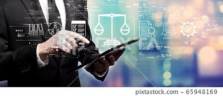 Legal advice service concept with businessman 65948169