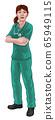 Doctor or Nurse Woman in Scrubs Medical Worker 65949115