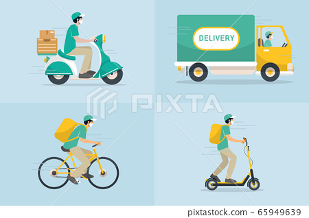Delivery vector transport flat design. 65949639