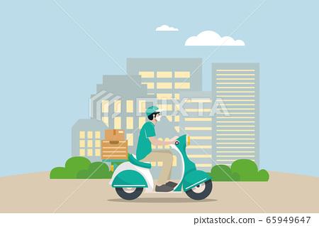 Delivery vector transport flat design. 65949647
