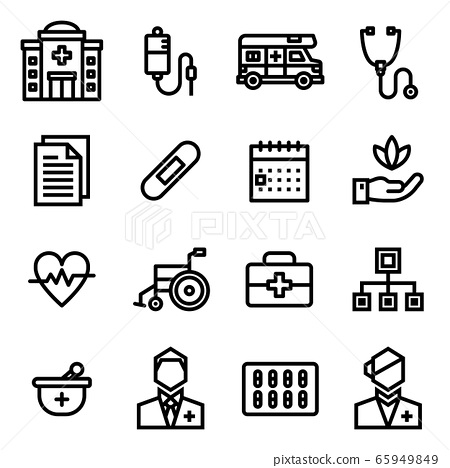Medical Icon Set 65949849