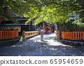 Kyoto Prefecture Kyoto City Higashiyama Ward Gion Tatsumi Bridge 65954659