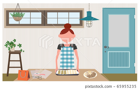 一個生活並製作糖果的女人 65955235