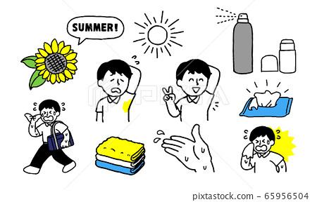 暑期在校生男孩出汗(簡單) 65956504