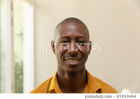 African American man smiling and looking at camera 65958464