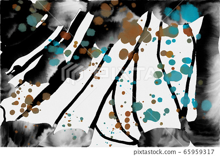抽像美麗的東方水彩藝術肌理和背景 65959317