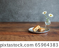 Raisin butter sandwich and retro table 65964383