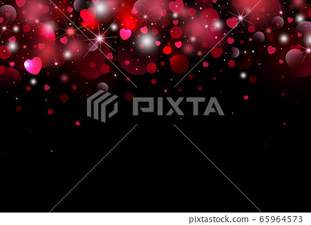 Valentines day background design of heart 65964573