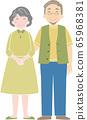 老年夫婦 65968381