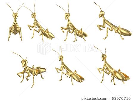 Set of polygonal mantis 65970710