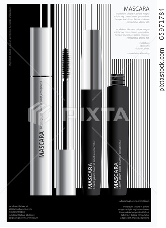 Poster Cosmetic Mascara with Packaging Vector Illustration 65971784