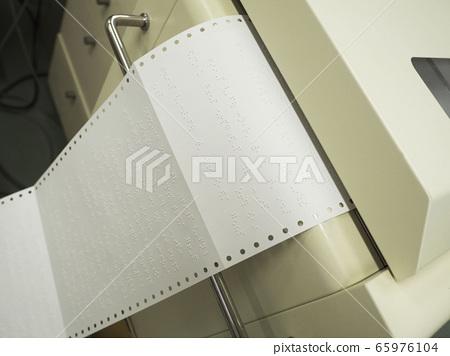 Braille printer that prints Braille 65976104