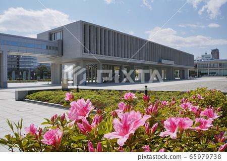 廣島和平紀念資料館和杜鵑花 65979738