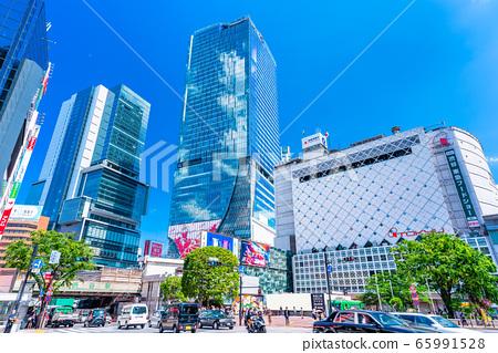 도쿄 시부야 스크램블 교차로 65991528
