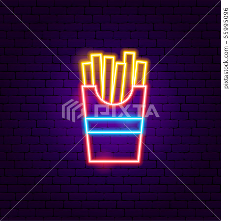 Fried Potato Neon Sign 65995096