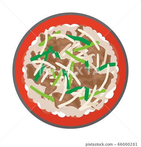 燒肉碗的插圖 66000281