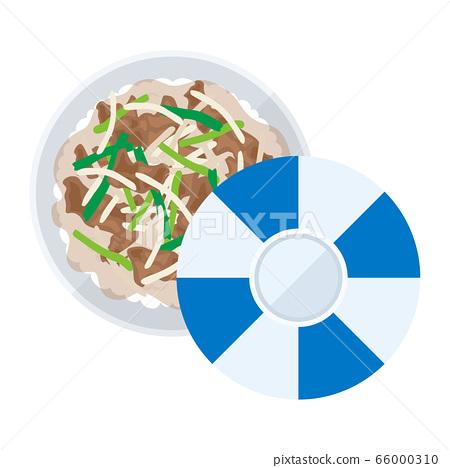 燒肉碗的插圖 66000310