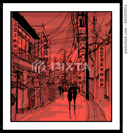Pedestrians in a street of Tokyo 66000651