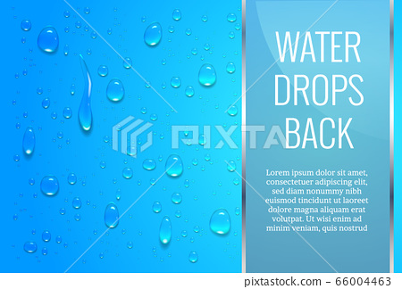Realistic, transparent drops on a smooth surface 66004463