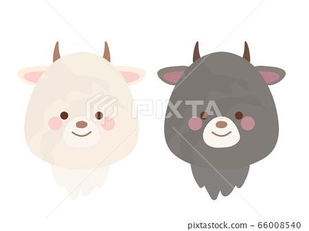 白山羊,黑山羊厚塗層套裝 66008540