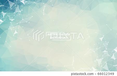 Blue Geometric Polygonal background molecule and 66012349