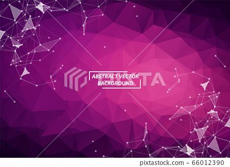 Geometric Purple Polygonal background molecule and 66012390