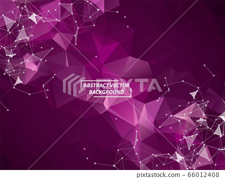 Abstract Purple Polygonal Space Background with 66012408
