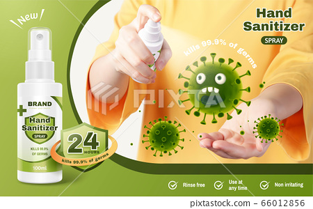 Ad template of hand sanitizer spray 66012856