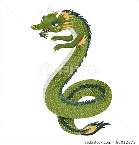 Adorable Chinese dragon 66012875