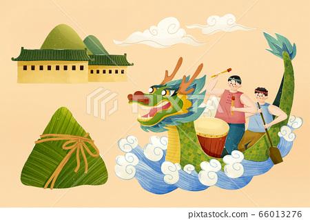 Elements for dragon boat festival 66013276