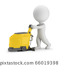 3d small people - scrubber machine 66019398