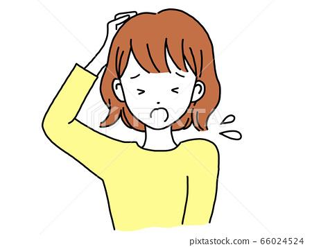 여성 골머리를 앓고 곤란 66024524