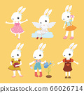 Set of cute cartoon rabbit in modern flat style. 66026714