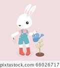Happy rabbit cartoon character. 66026717