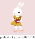 Happy rabbit cartoon character. 66026718