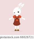 Happy rabbit cartoon character. 66026721