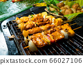 Asian food. Different mini barbecue counter at 66027106