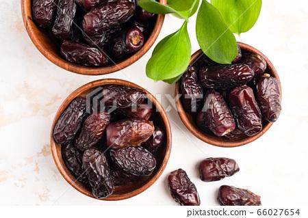 Dried Medjool Dates In Bowl 66027654