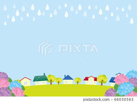 绣球花雨的景色 66030563