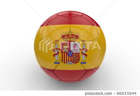 Soccer ball with spain flag 66033844