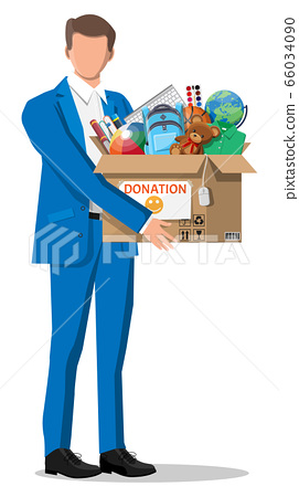 Mna, donation box of toys, books, clothes, devices 66034090