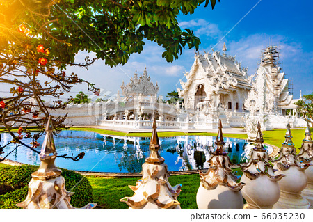 White temple in Chiang Rai 66035230