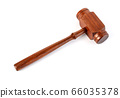 Wooden judge's gavel  isolated 66035378