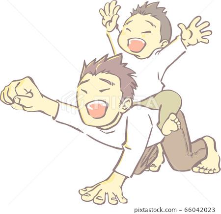 お馬 씨 놀이하는 부모 - 향수 잘라 그림 바람 66042023