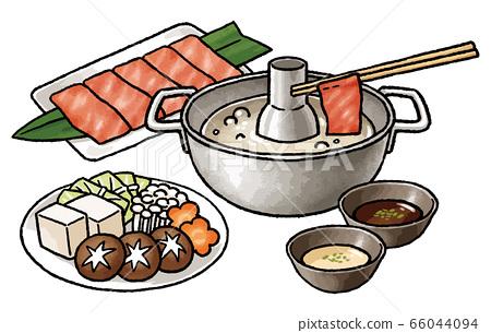 鍋套餐(醬油和食材) 66044094