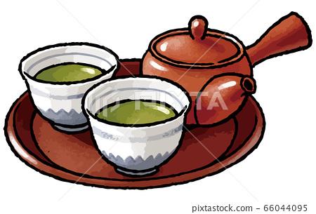 綠茶和茶壺 66044095