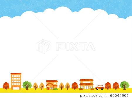가을, 단풍, 거리 66044903