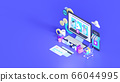 Shopping on-line. Online store on website or mobile application. 3d rendering background. digital marketing shop concept. 66044995
