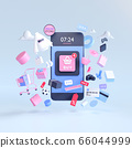 Shopping on-line. Online store on website or mobile application. 3d rendering background. digital marketing shop concept. 66044999